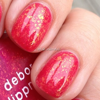 Deborah Lippmann Sweet Dreams over OPI Jelly Sandwich - Too Hot Pink To Hold 'Em with Pink Me I'm Good