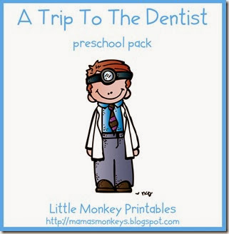 dentist, preschool, dental health, tot school, preschool pack
