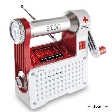 This multi-purpose weather radio/flashlight is a real life-saver. And you won't be worrying about it dying on you. It has a built in hand-crank that will power it in case the batteries die.  (brookstone.com)