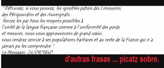 frasa racista contra lo pòble occitan