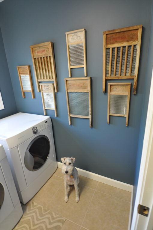 Vintage Washboards in Laundry Room