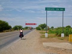 206km of desert between Piura and Chiclayo.