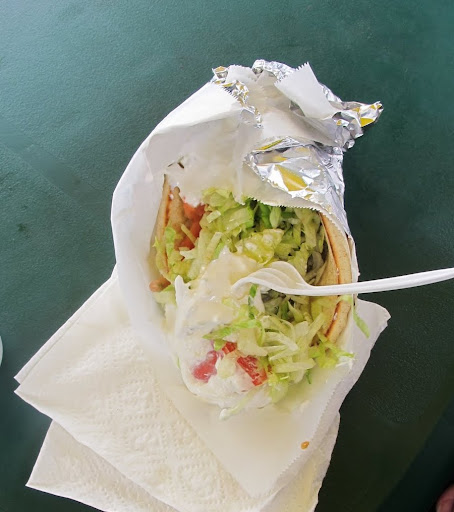 Another lunch option? Chicken gyro.