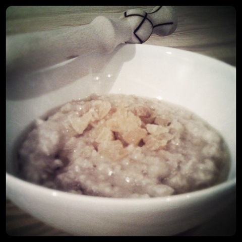 #40 - simple porridge supper stirred with a spurtle