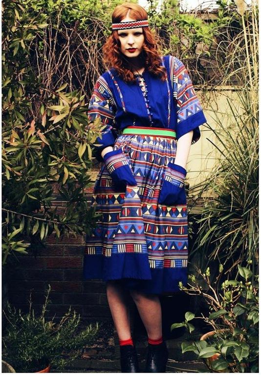 Vintage Liberty Print Folk Dress, £65, Rag & Bow