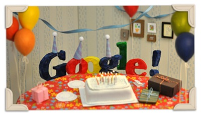 Google's 13th Birthday-Google Logo