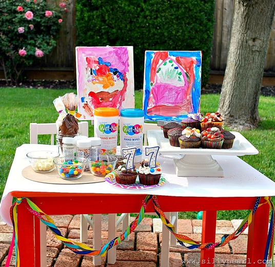 Cupcake Bar Kids Party Ideas