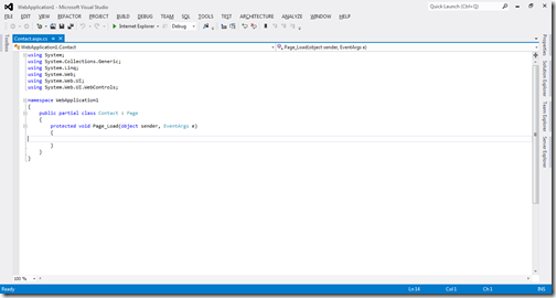 Blue color for project loading in visual studio 2012 color indication feature in visual studio 2012