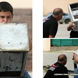 Lever de pierre par un élève de l'école de Briscous