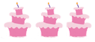 Three Un-birthday cakes