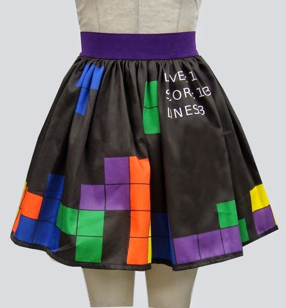 Tetris Skirt from Go Follow Rabbits