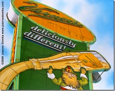 Vernor's sign art print