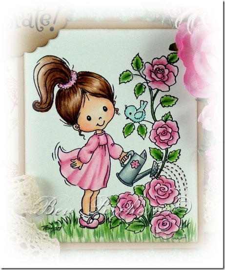 Bev-Rochester-Stampavie-Little-Tobi-watering-the-roses1
