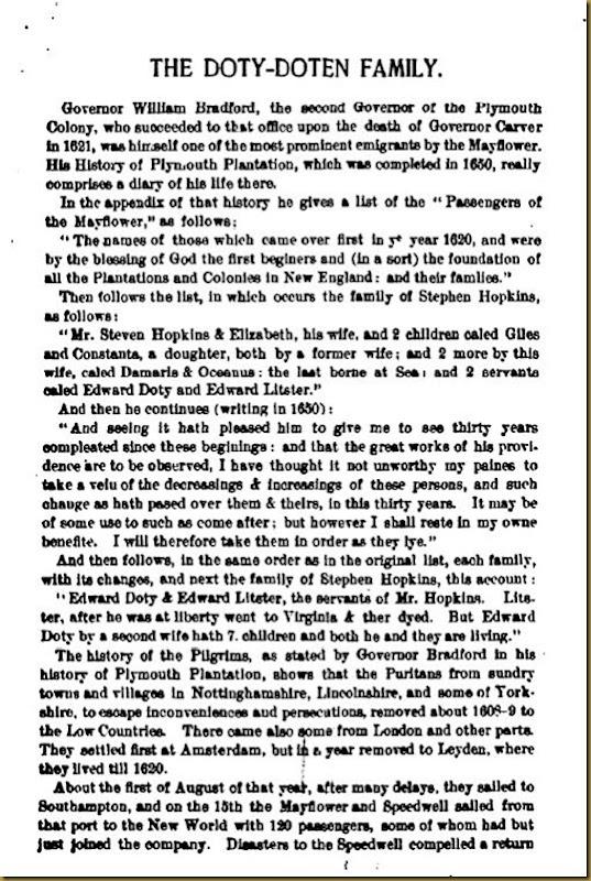 Doty-Doten Family In America - The Family of Edward Doty (2)