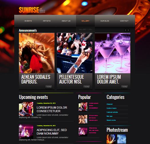 sunrise blogger template