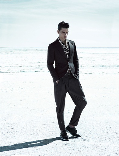 Simon Nessman @ Soul by Mert & Marcus for Giorgio Armani S/S 2012 campaign.  Styled by George Cortina.