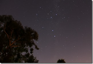 Southern Cross as viewed from Melbourne