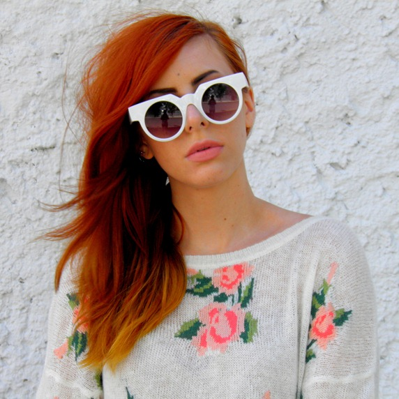 WHITE SUNGLASSES & FLORAL JUMPER