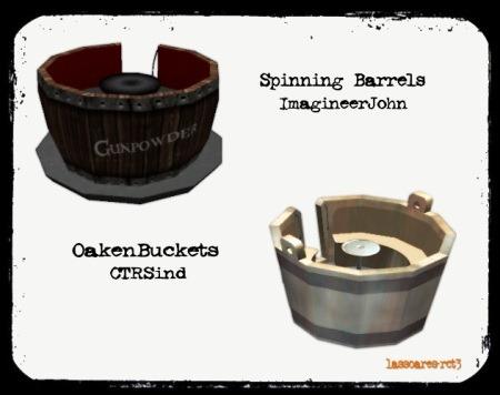 Spinning Barrels (ImagineerJohn) e OakenBuckets (CTRSind) lassoares-rct3