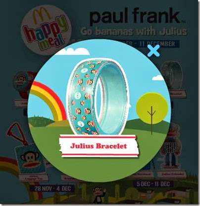 McDonalds happy meal X Paul Frank - Go Banana with Julius bracelet