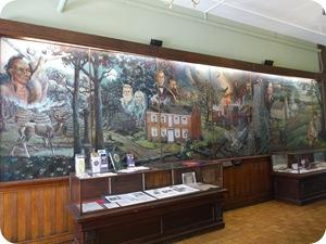 Mural of Jasper County history