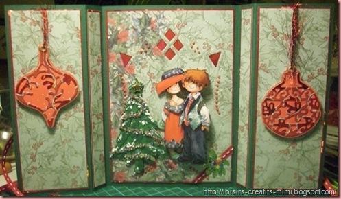 carte 3D de Noël ouverte