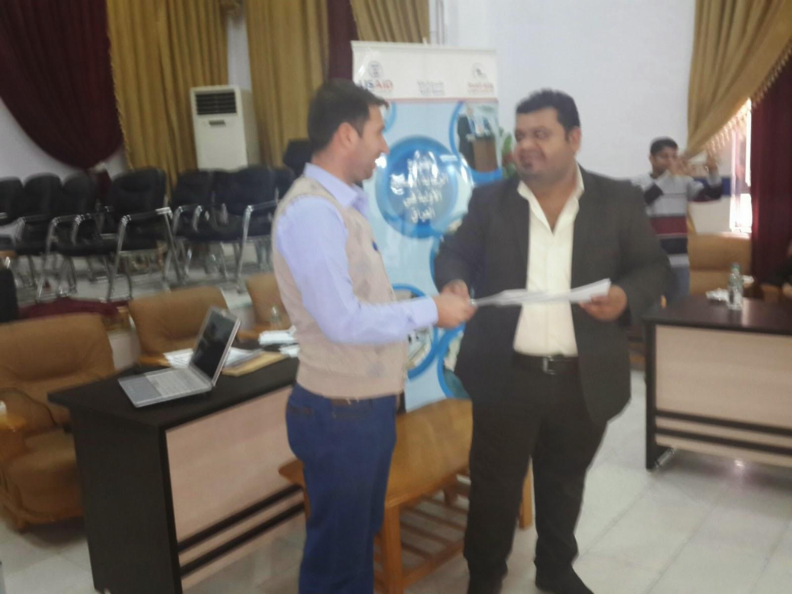 دورة المشرفين التي اقامها فريق منظمة التنمية  USAID