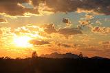 A Gorgeous Sunset With Kata Tjuta In The Shadows - Yulara, Australia