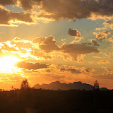A Gorgeous Sunset With Kata Tjuta In The Shadows - Yulara, Australia