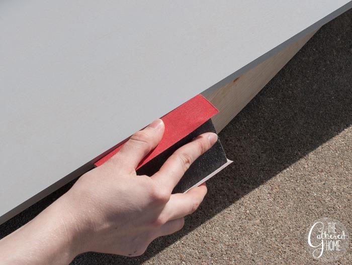sanding mdf primed edge