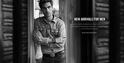 Jon Kortajarena by Peter Lindbergh for David Yurman F/W 2011.  Styled by Alex White