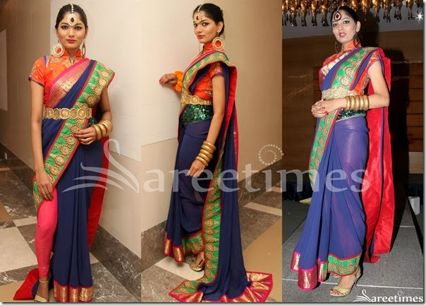 Blue_Georgette_Saree