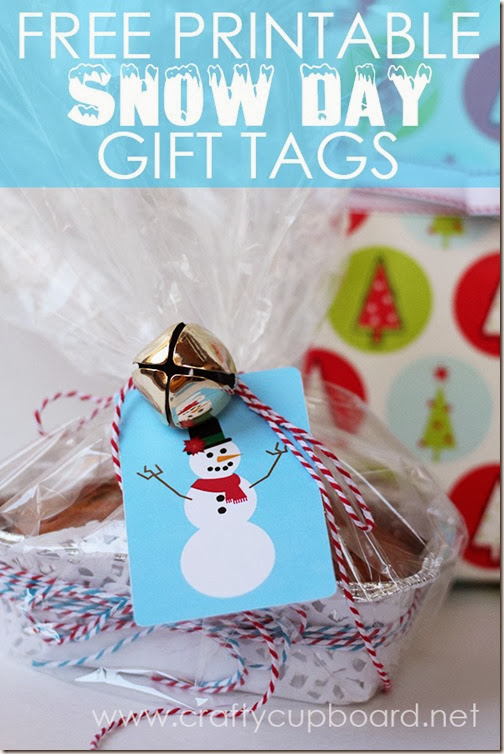Snow Day Printable Christmas Gift Tags by The Crafty Cupboard