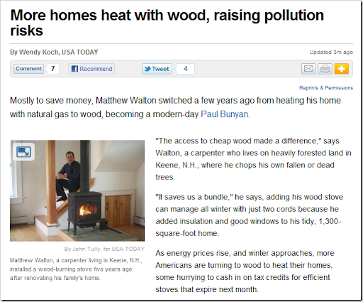 How to avoid pollution risks when heating with wood