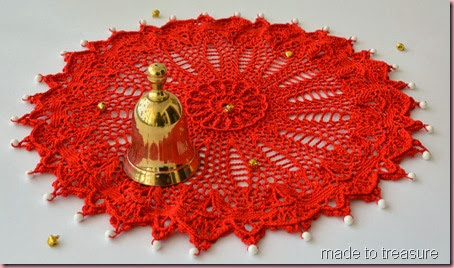 ultimate red doily