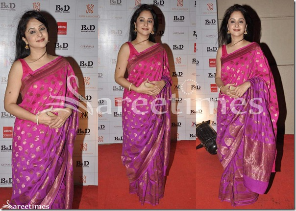 Pink_Purple_Designer_Silk_Saree