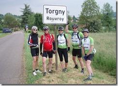Het eindpunt: Torgny met een écht voelbaar warmer micro-klimaat!!! Nog 500 meter te fietsen.