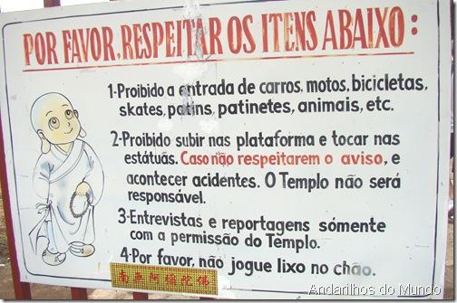Regras de visitacao centro budista foz do iguacu