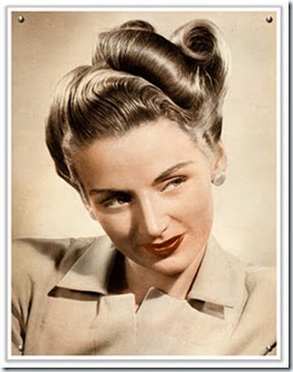 1940s vintage hair updo