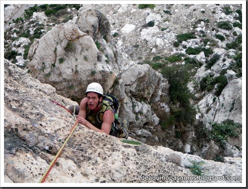 Via Costa Blanca 250m 6c  (6b A0 Oblig) (Peon de Ifach, Alicante) (Isra) 2446