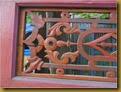 Set pintu jendela merah - cacat
