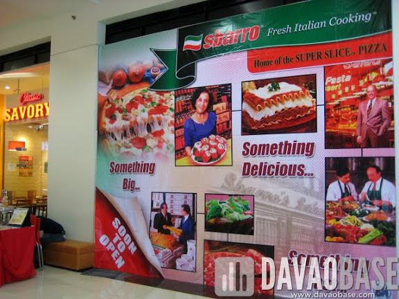 Soon to open: Sbarro in SM City Davao