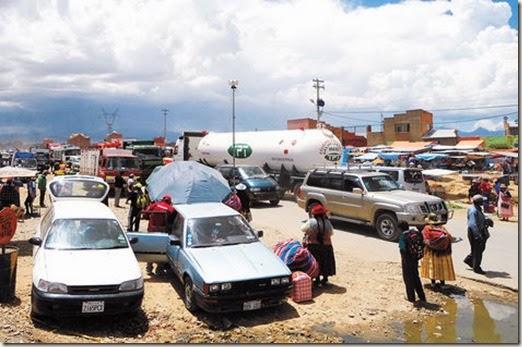 Ferias en El Alto, Bolivia
