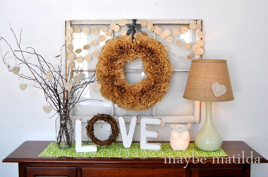Neutral, Rustic Valentine's Display by Maybe Matilda