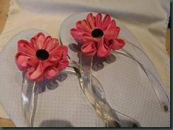 Flowers on flip-flops