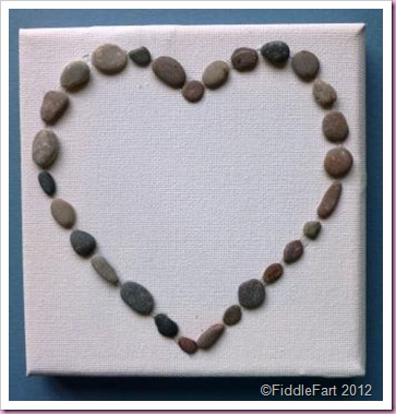 Pebble Heart Canvas