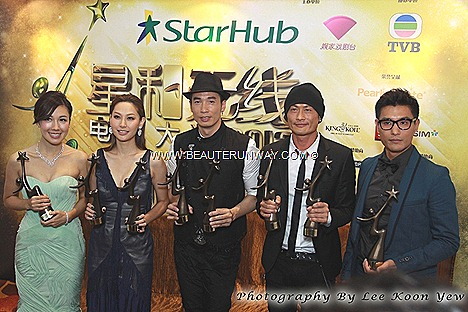 Starhub TVB Awards winners 2012 Kong actor actress Linda Chung Myolie Wu Tavia Yeung Chen Fala, Selena Li Kate Tsui Astrid Chan Kevin Cheng Sunny Chan Moses Wayne Lai Kenneth Ma Kenny Wong Grasshoppers Bowie Wu Feng Ruco Chan
