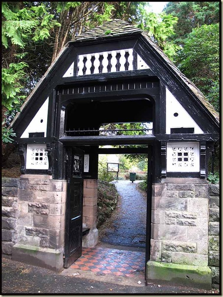 The Lych Gate entry to Denzell Gardens