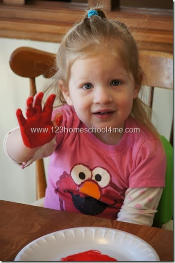 Valentines Day Hand Art Craft for Toddler & Preschool