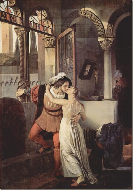 Francesco Hayez,  Le dernier baiser de Romeo et Juliette